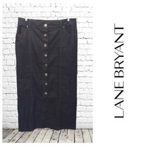 Lane Bryant Stretch Denim Maxi Skirt